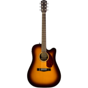 Fender CD-140SCE Dreadnought Cutaway Electro, Solid Spruce Top, Ovangkol Back, w/ Fishman and Case, Sunburst