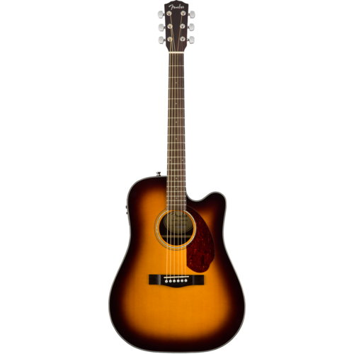 Fender Fender CD-140SCE Dreadnought Cutaway Electro, Solid Spruce Top, Ovangkol Back, w/ Fishman and Case, Sunburst