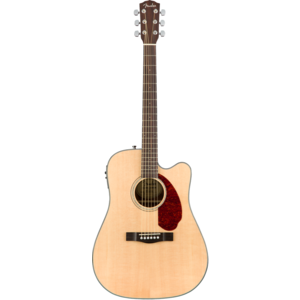 Fender CD-140SCE Dreadnought Cutaway Electro, Solid Spruce Top, Ovankgol Back, w/ Fishman and Case, Natural
