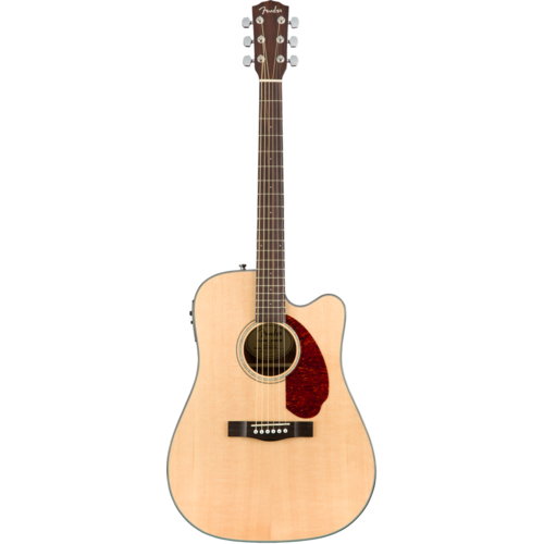 Fender Fender CD-140SCE Dreadnought Cutaway Electro, Solid Spruce Top, Ovankgol Back, w/ Fishman and Case, Natural