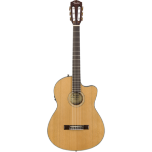 Fender CN-140SCE Classical Thinline, Solid Cedar Top, Ovankgkol Back, w/ Case, Natural