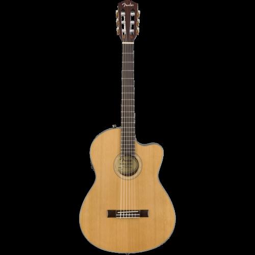 Fender Fender CN-140SCE Classical Thinline, Solid Cedar Top, Ovankgkol Back, w/ Case, Natural