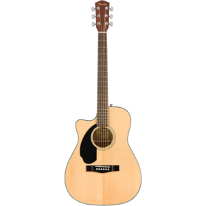 Fender CC-60SCE LH Left-Handed Electro-Acoustic Concert Guitar, Solid Spruce Top, Mahogany Back, Natural