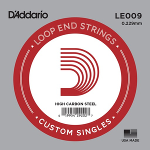D'Addario Single String, Plain Steel, Loop End