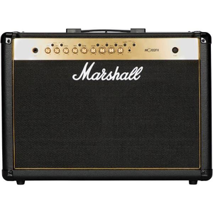 "Marshall MG102GFX 100W 2x12"" Black and Gold Amplifier w/ FX"