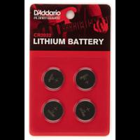 D'Addario Lithium CR2032 Battery, 4-Pack