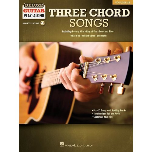 Hal Leonard Deluxe Guitar Play-Along Volume 12: Three Chord Songs