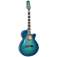 Takamine Thinline FX Arched Flamed Maple, Blue Burst