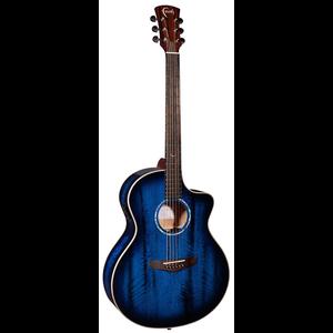 Faith Blue Moon Burst Neptune Electro-Acoustic, All Solid Java Mango