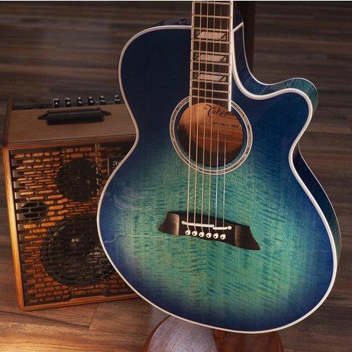 Takamine Takamine Thinline FX Arched Flamed Maple, Blue Burst