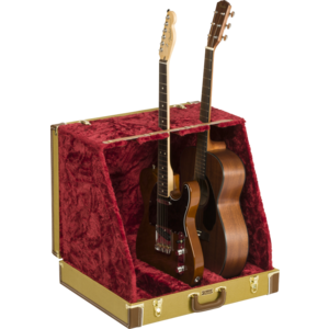 Fender Multi Guitar Case Stand, 3-Way, Tweed