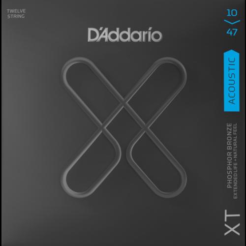 D'Addario D'Addario XT Coated 12-String Acoustic String Set, Phosphor Bronze, .010-.047