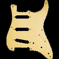 Fender Pickguard, '50s Strat, 8 Hole S/S/S Configuration, 3-Ply, Gold Anodized Aluminium