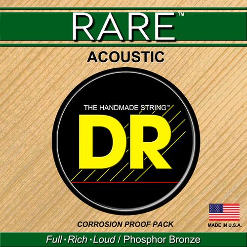 DR Strings DR Rare 12-String Acoustic Set, Phosphor Bronze, .010-.048
