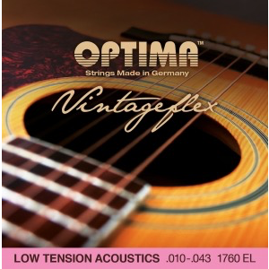 Optima Acoustic Vintage Flex String Set, Low Tension, Bronze