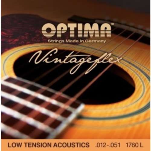 Optima Optima Acoustic Vintage Flex String Set, Low Tension, Bronze