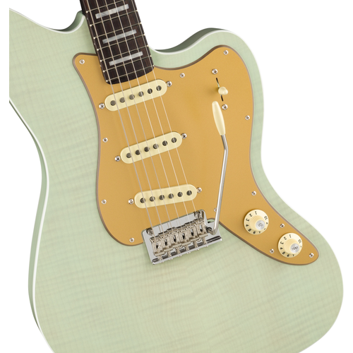 Fender Fender Limited Edition Parallel Universe Vol II Stratocaster Jazz Deluxe, Transparent Faded Seafoam Green
