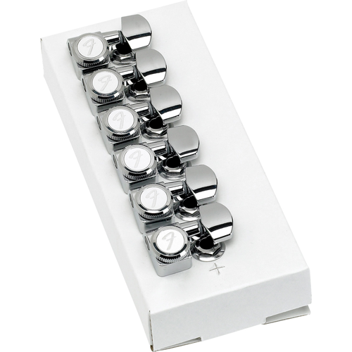 Fender Accessories Fender Locking Stratocaster/Telecaster Tuning Machines, Polished Chrome