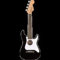 Fender Fullerton Strat Concert Ukulele, Black