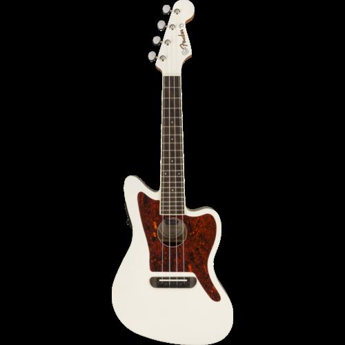 Fender Fender Fullerton Jazzmaster Concert Ukulele, Olympic White
