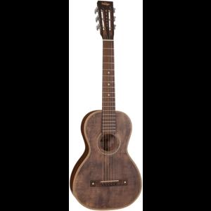 Vintage Viator Paul Brett Signature Travel Guitar Antique Finish w/ USB