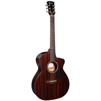 Faith Legacy Dark Roast Earth Electro-Acoustic, All Solid African Khaya Mahogany, Torrefied Top
