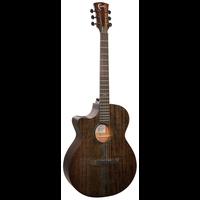 Faith Nexus Venus, Left Handed Electro-Acoustic, All Solid Mahogany, Copper Black