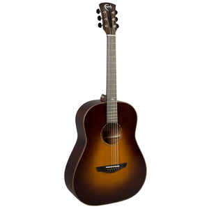Faith Classic Burst Mars Left Handed Drop Dreadnought, 45mm Nut, All Solid, Red Cedar Top, Mahogany Back