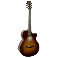 Faith Classic Burst Venus Electro-Acoustic, 45mm Nut, All Solid, Red Cedar Top, Mahogany Back
