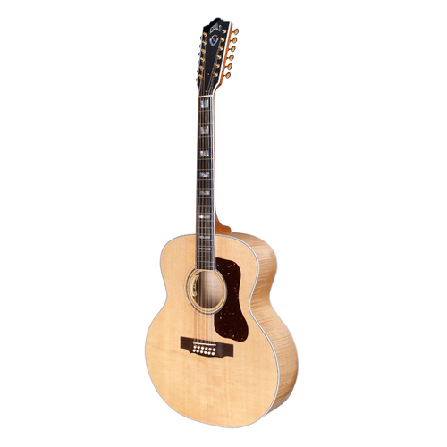 Guild Guild F-512E Maple 12-String, Electro-Acoustic, Solid Sitka Spruce Top, Flamed Maple Back, Blonde Nitro
