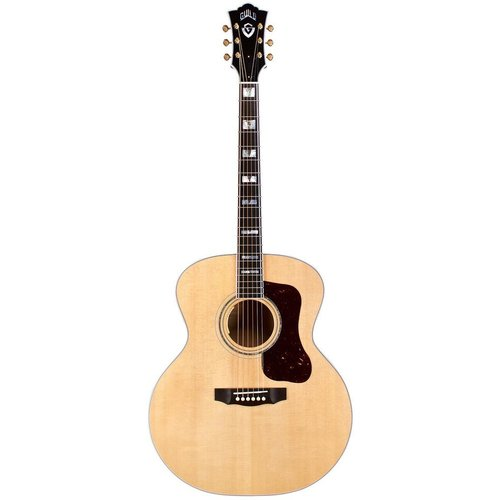 Guild Guild F-55E Maple, Electro-Acoustic, Solid Sitka Spruce Top, Flamed Maple Back, Blonde Nitro