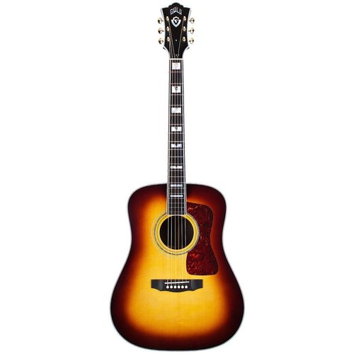 Guild Guild D-55E ATB, Electro-Acoustic, All Solid, Sitka Spruce Top, Rosewood Back, Antique Burst Nitro