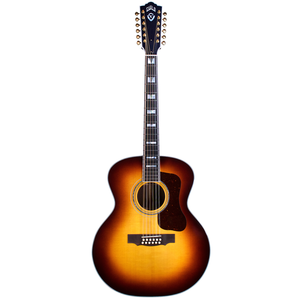 Guild F-512E ATB 12-String, Electro-Acoustic, All Solid, Sitka Spruce Top, Rosewood Back, Antique Burst Nitro