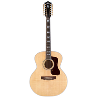 Guild F-512 Maple, Solid Sitka Spruce Top, Flamed Maple Back, Blonde Nitro