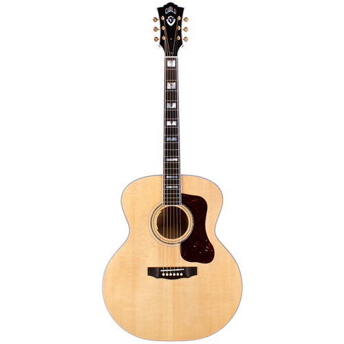Guild Guild F-55 Maple, Solid Sitka Spruce Top, Flamed Maple Back, Blonde Nitro