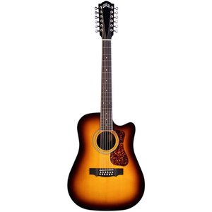 Guild D-2612CE Deluxe ATB, Electro-Acoustic, Solid Sitka Spruce Top, Flamed Maple Back, Antique Burst