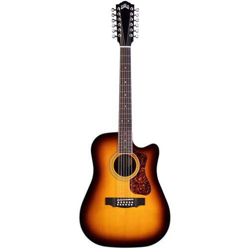 Guild Guild D-2612CE Deluxe ATB, Electro-Acoustic, Solid Sitka Spruce Top, Flamed Maple Back, Antique Burst