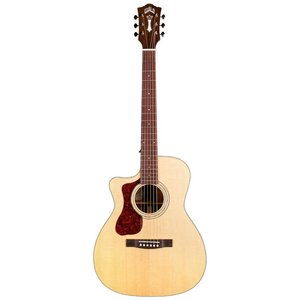 Guild OM-140CE Left Handed, Electro-Acoustic, All Solid, Sitka Spruce Top, Mahogany Back, Natural Gloss