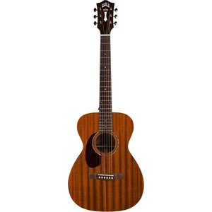 Guild M-120E Left Handed, Electro-Acoustic, All Solid Mahogany, Natural Gloss