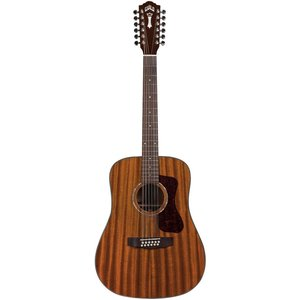 Guild D-1212E 12-String, Electro-Acoustic, All Solid Mahogany, Natural Gloss