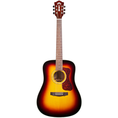 Guild Guild D-140 ATB, All Solid, Sitka Spruce Top, Mahogany Back, Antique Burst Gloss