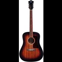 Guild D-20E VSB, Electro-Acoustic, All Solid Mahogany, Vintage Sunburst Satin