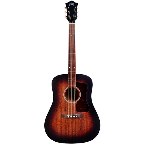 Guild Guild D-20E VSB, Electro-Acoustic, All Solid Mahogany, Vintage Sunburst Satin