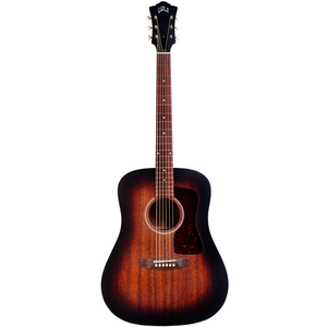 Guild D-20 VSB, All Solid Mahogany, Vintage Sunburst Satin