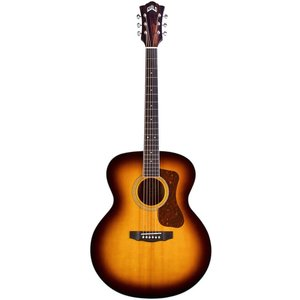 Guild F-250E Deluxe Maple ATB, Solid Sitka Spruce Top, Flamed Maple Back, Antique Burst Gloss