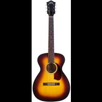 Guild M-40E Troubadour ATB, Electro-Acoustic, All Solid, Sitka Spruce Top, Mahogany Back, Antique Burst Satin