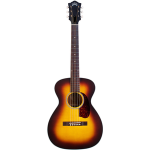 Guild M-40E Troubadour ATB, Electro-Acoustic, All Solid, Sitka Spruce Top, Mahogany Back, Antique Burst Satin