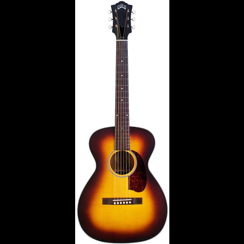 Guild Guild M-40E Troubadour ATB, Electro-Acoustic, All Solid, Sitka Spruce Top, Mahogany Back, Antique Burst Satin