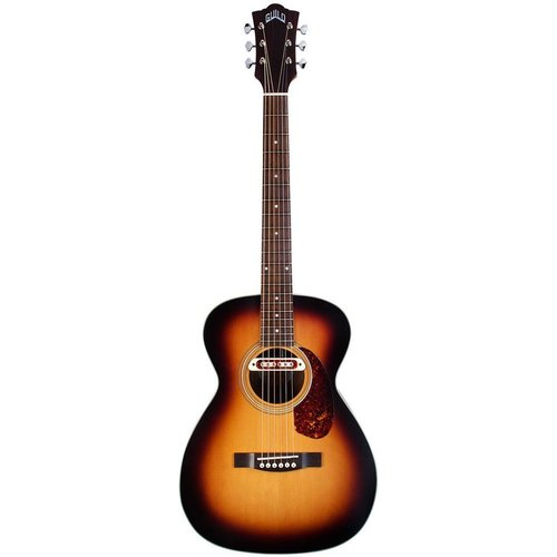 Guild Guild M-240E Troubadour, Electro-Acoustic, Solid Sitka Spruce Top, Mahogany Back, Vintage Sunburst Satin