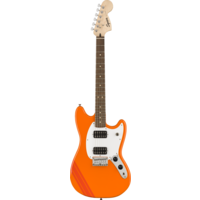 Squier FSR Bullet Competition Mustang HH, Competition Orange with Fiesta Red Stripes